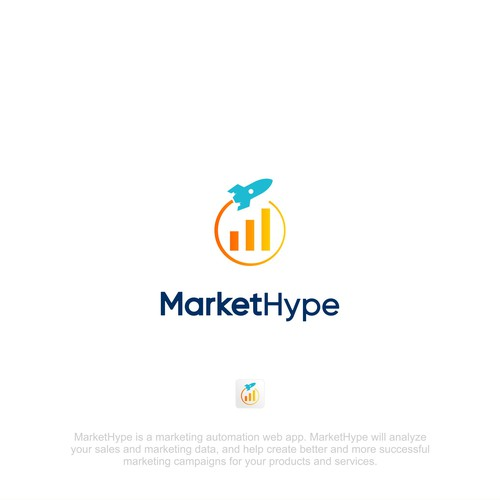 Hype logo with the title 'Marketing Web App Need a Playful and Clean Logo'