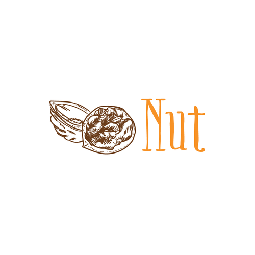 Nut logo with the title 'logo for nut'