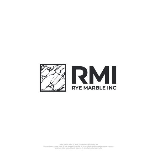 Granite logo with the title 'Marble logo'