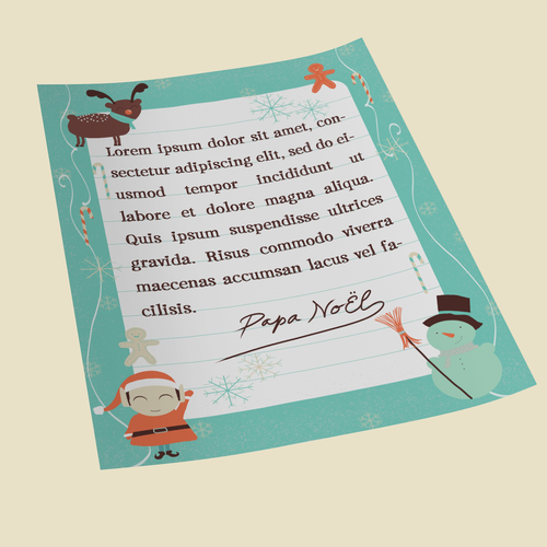 Letter illustration with the title 'Letter from Santa'