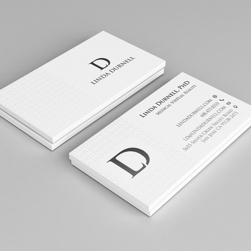 Virtual design with the title 'Business card design'