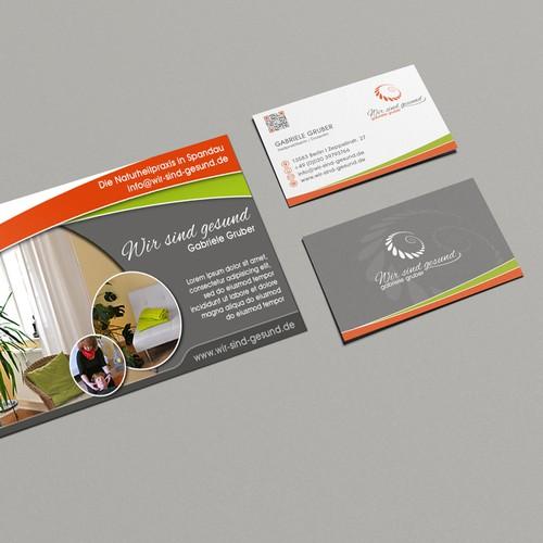 Corporate identity design with the title 'Erstellt eine moderne Seite wo jeder Kunde sofort in meine Praxis möchte!'