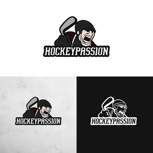 Ice hockey design with the title 'Logo für Hockey Passion'