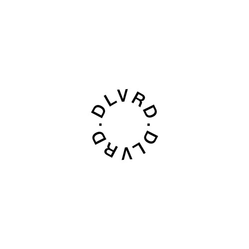 Typography brand with the title 'DLVRD.'