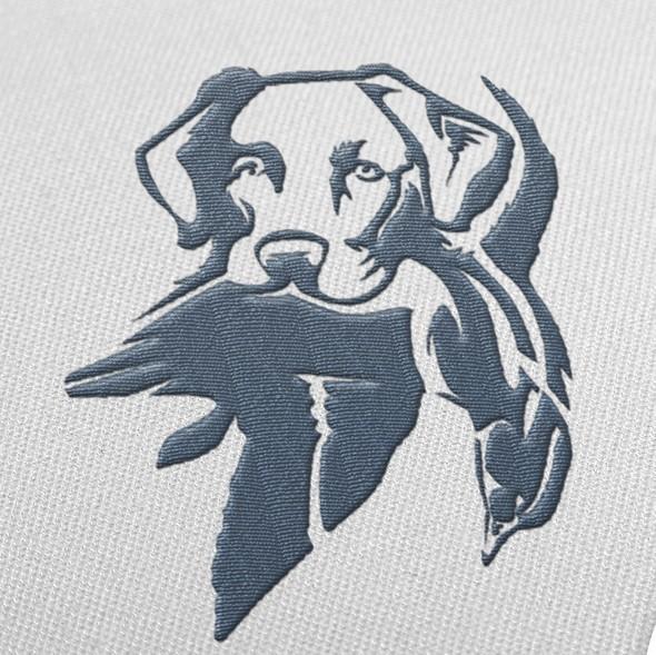 Digital art logo with the title 'Huck C. Creek'
