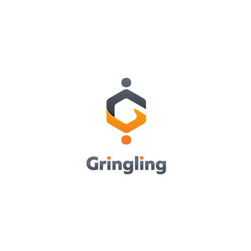 Dating app logo with the title 'Logo for Gringling'