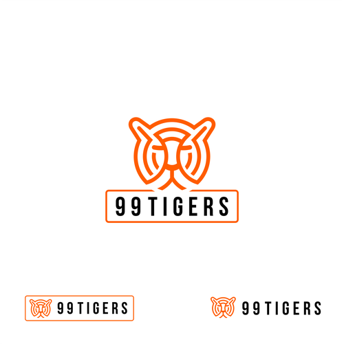 Tiger logo with the title '99 tigers logo'