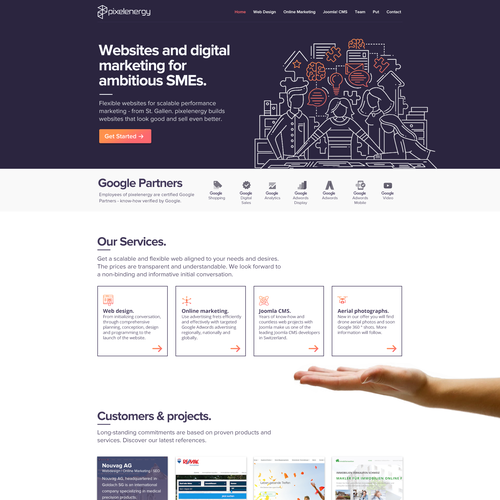 Homepage website with the title 'Web Agency Layout'