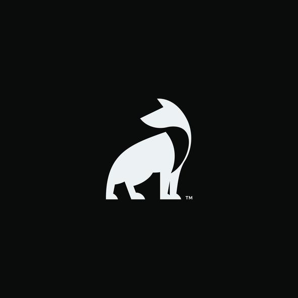 Hound design with the title 'HoundTrek Logo Design'