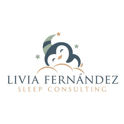 Penguin design with the title 'Sleep Consulting Logo'
