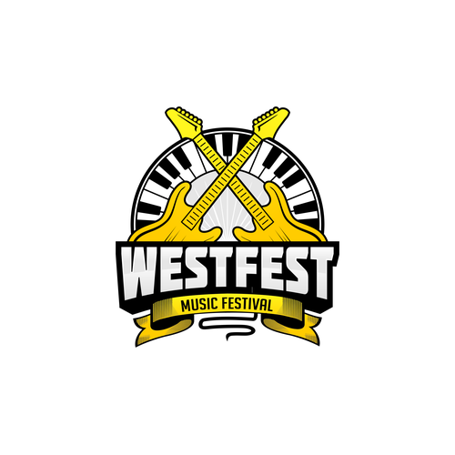 Music festival design with the title 'WESTFEST'