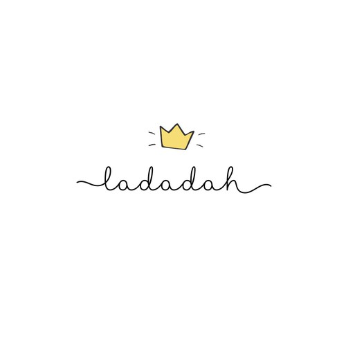 Baby clothing logo with the title 'Ladadah '