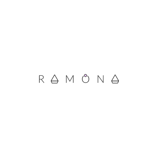 Gem design with the title 'Ramona Is A Minimalistic Jewelry Artist ||'