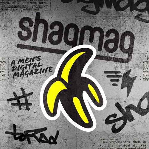 Fruit logo with the title 'shagmag'