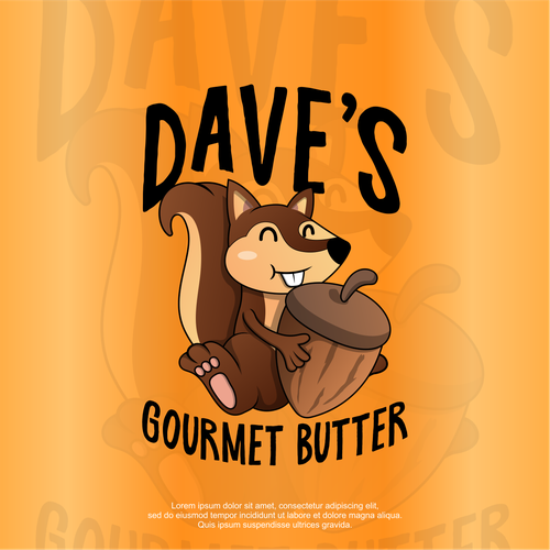 Butter logo with the title 'Dave's butters '