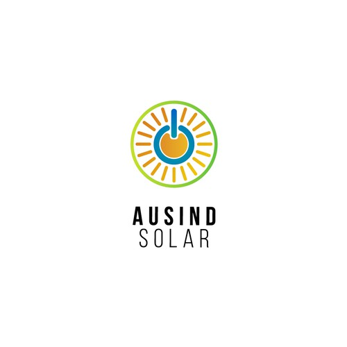 Orange and yellow logo with the title 'Ausind Solar'