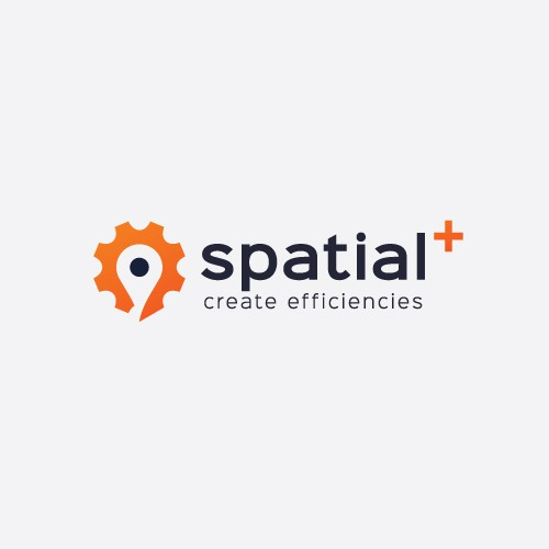 Pin logo with the title 'Logo Design for Spatial+'