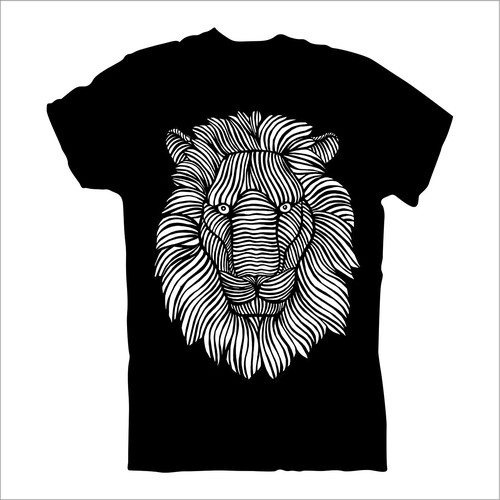 Wild t-shirt with the title 'lion head'