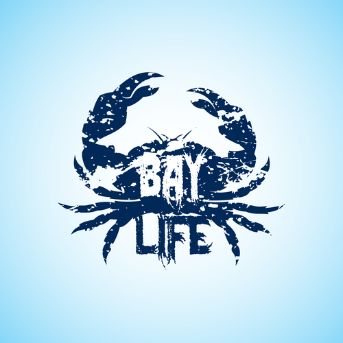 Crab design with the title 'Logo for Bay Life'