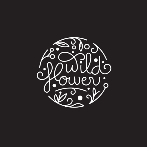 Fruit logo with the title 'Wild Flower'