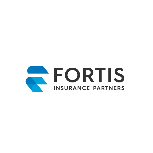 Up design with the title 'Logo designs for Fortis Insurance Partners'
