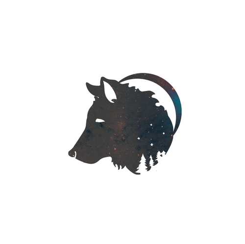 Universe logo with the title 'Logotype for Lunawolf! <3'