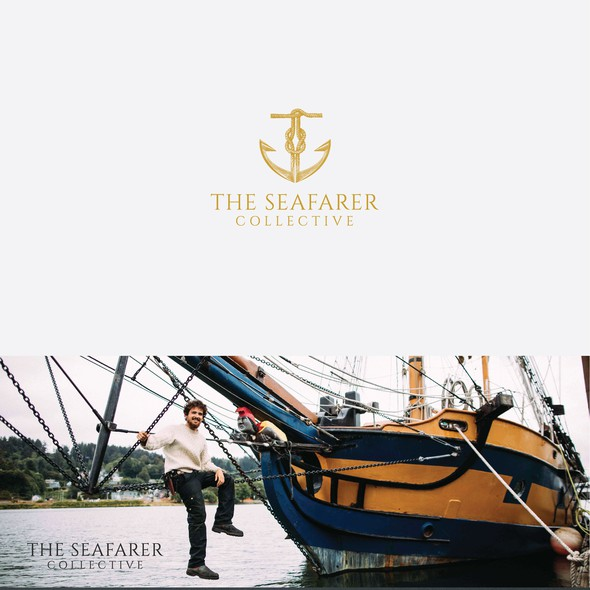Marine brand with the title 'Brand identity for The Seafarer Collective '