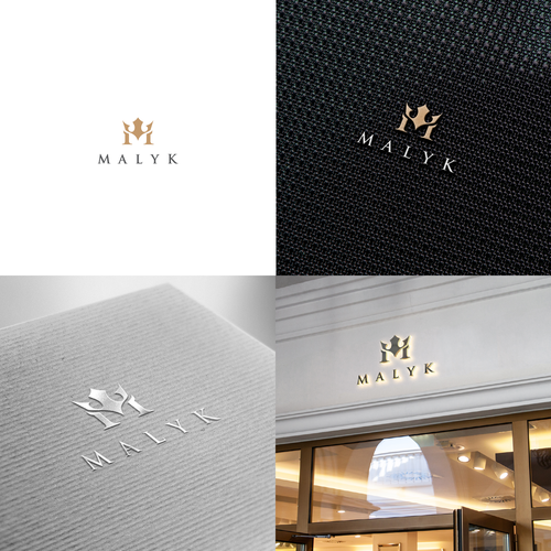 Fashion logo with the title 'Luxury logo concept for MALYK'