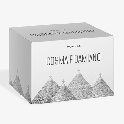 Box for Cosma e Damiano, Italian wine from Puglia