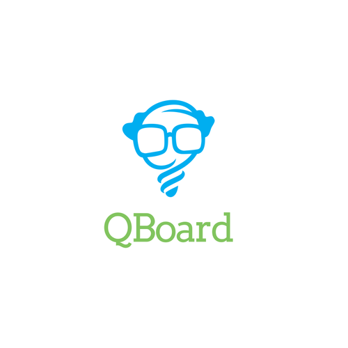Question mark logo with the title 'Logo design for QBoard.'