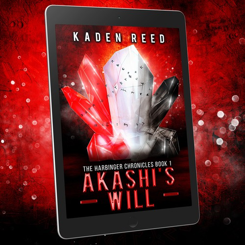 Paperback design with the title 'Book cover design - Akashi's Will by author Kaden Reed '