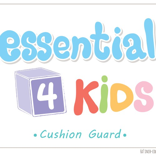 Kids label with the title 'Cushion guard logo'