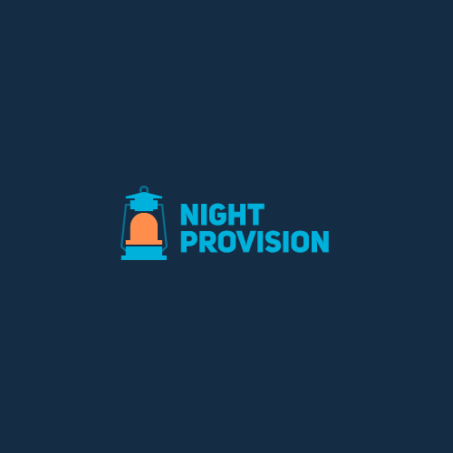 LED logo with the title 'Night provision'