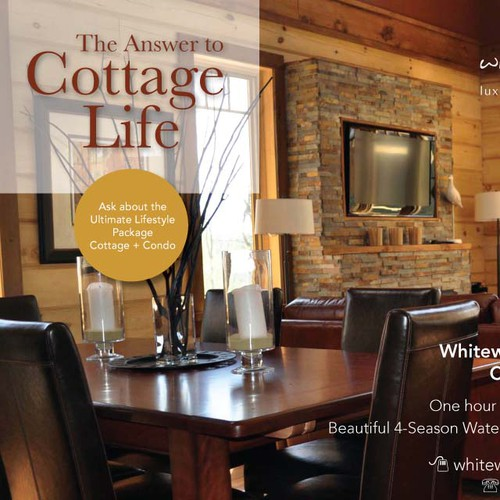 Cottage design with the title 'Full Page Ad Interiors Magazine - WINNING DESIGN'