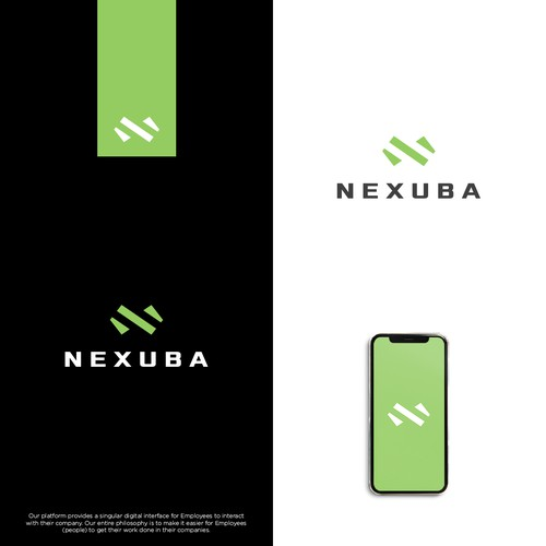 Workplace design with the title 'Nexuba'