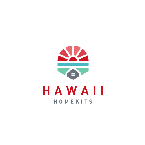 Hawaii logo with the title 'home + sun + sea'