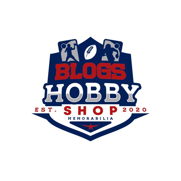 NFL design with the title 'Blogs Hobby Shop'
