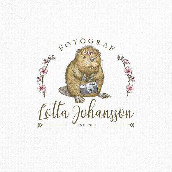 Beaver design with the title 'Lotta Johansson'