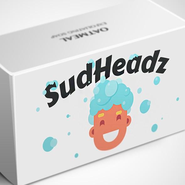 """Bubble design with the title 'Logo Design Soap """"SudHeadz""""'"""