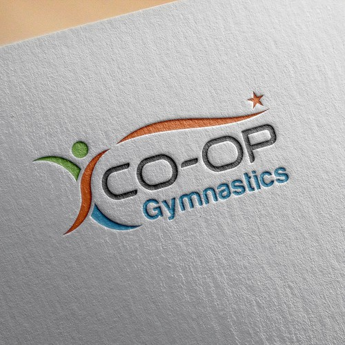 Gymnastics design with the title 'co-op logo'