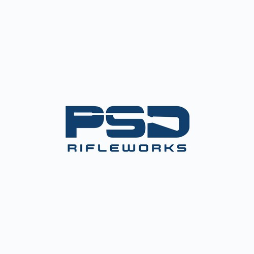 Artillery logo with the title 'Negative space logo for Rifle and Silencer Manufacturer'
