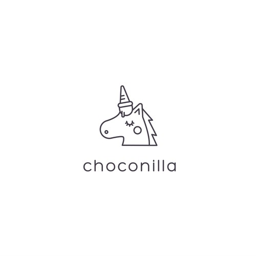 Ice cream shop design with the title 'Choconilla'
