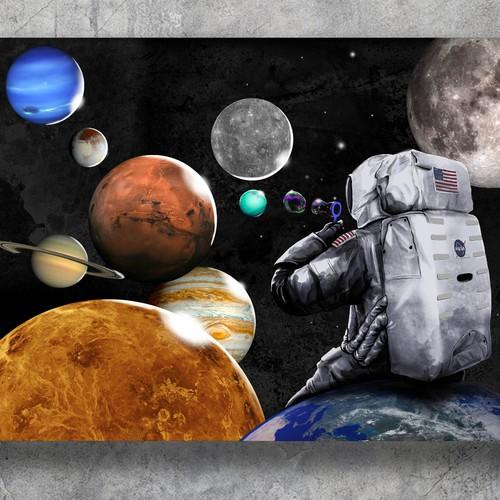 Bubble design with the title 'planet bubble'