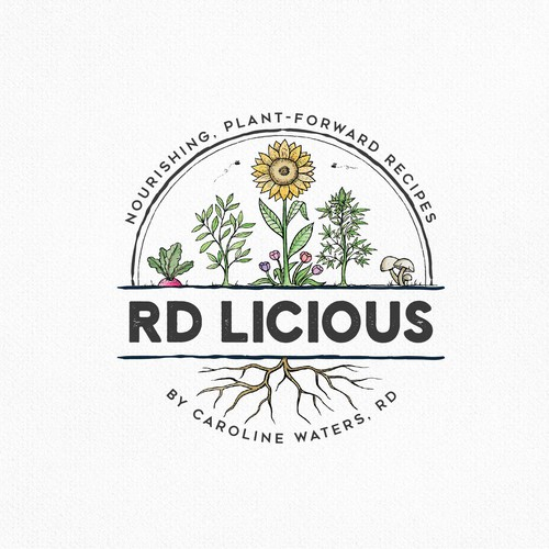 Plant logo with the title 'Rd Licious'