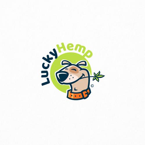 Marijuana logo with the title 'LuckyHemp'