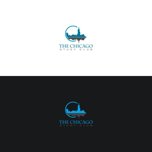 Chicago logo with the title 'Logo Concept for a dental study club in chicago'