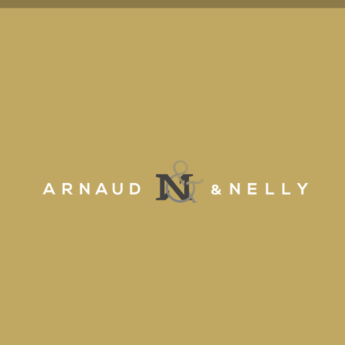 Ambigram design with the title 'arnaud & nelly'