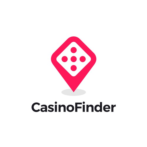 Location logo with the title 'CasinoFinder'