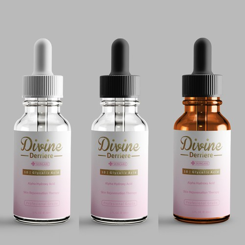 Serum packaging with the title 'Divine Derriere'