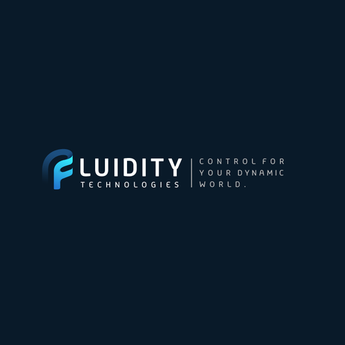 Fluid design with the title 'Fluid logo for fluidity Technologies'